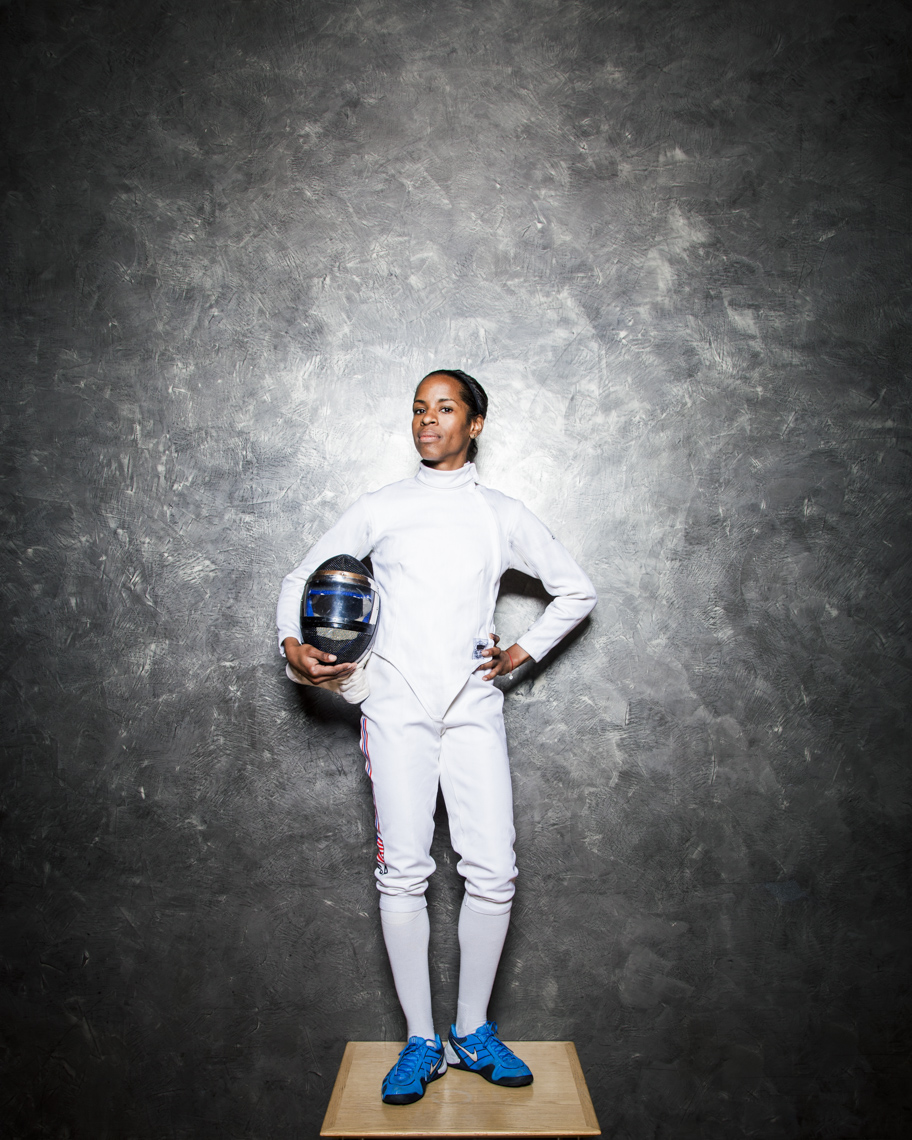Portrait of African American  woman who was Olympic fencer
