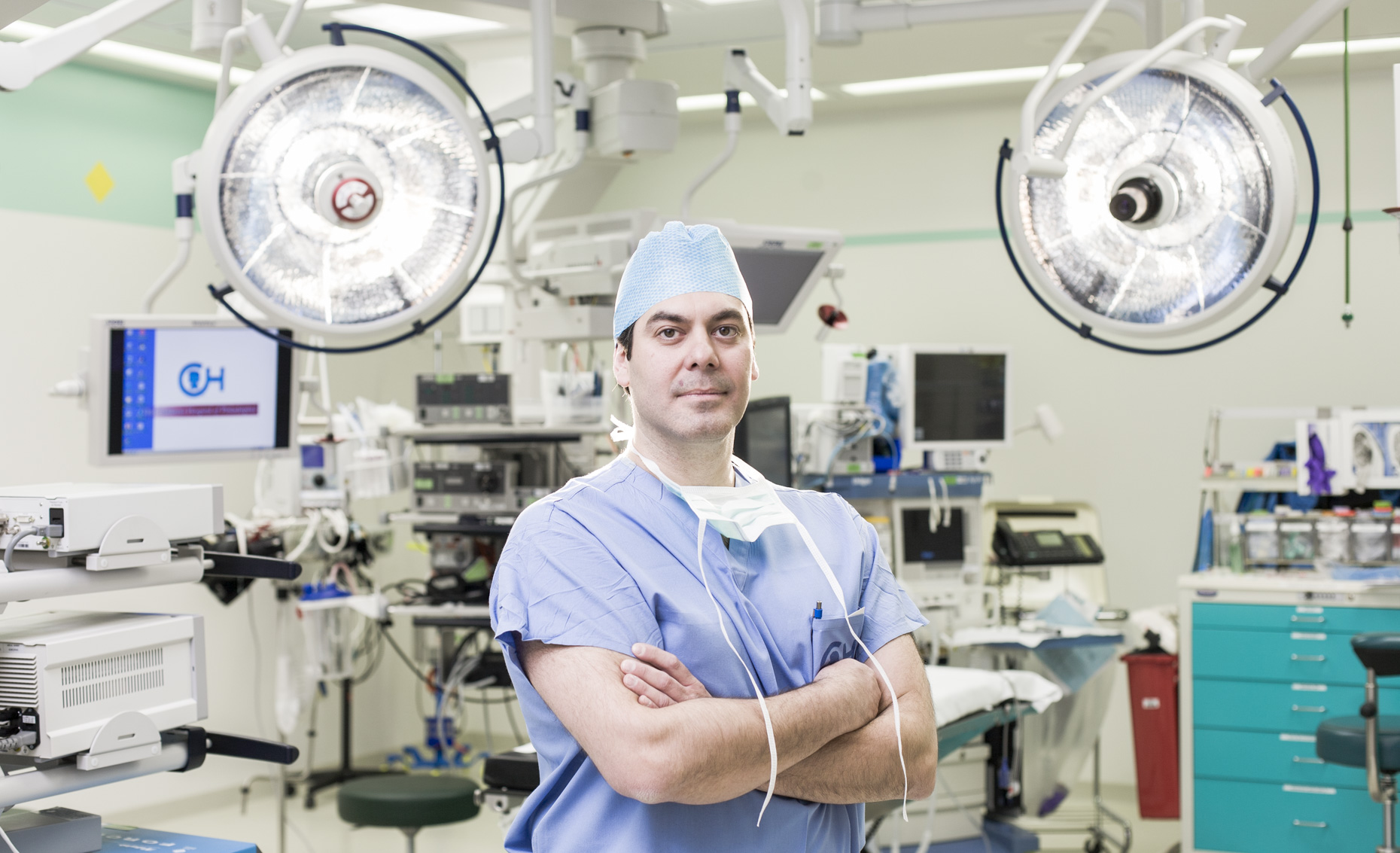 A portrait of a surgeon.