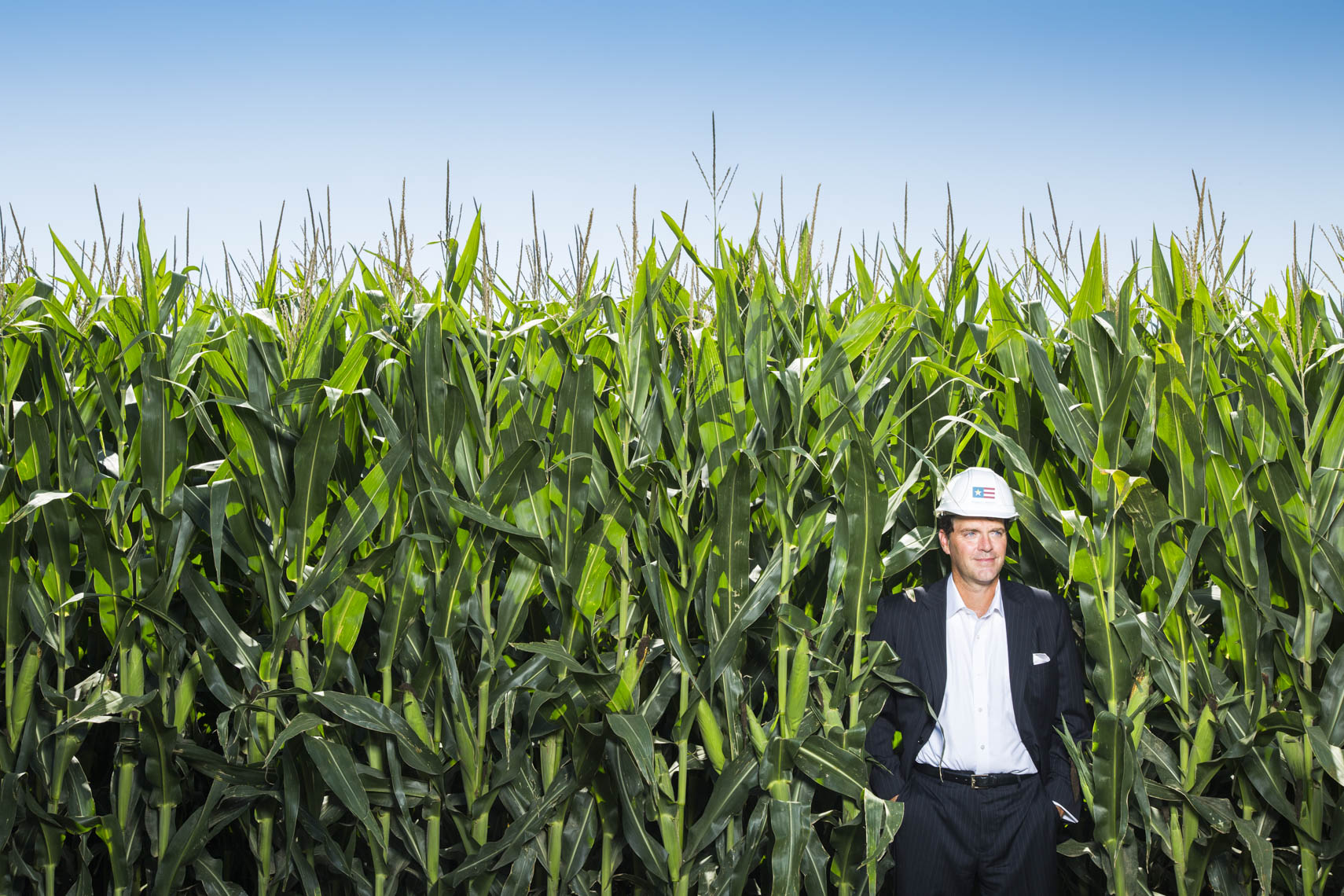 Environmental portrait of Hugh Welsh, General Counsel & President of Royal DSM North America taken at the Project Liberty ethanol production site in Emmetsburg, Iowa