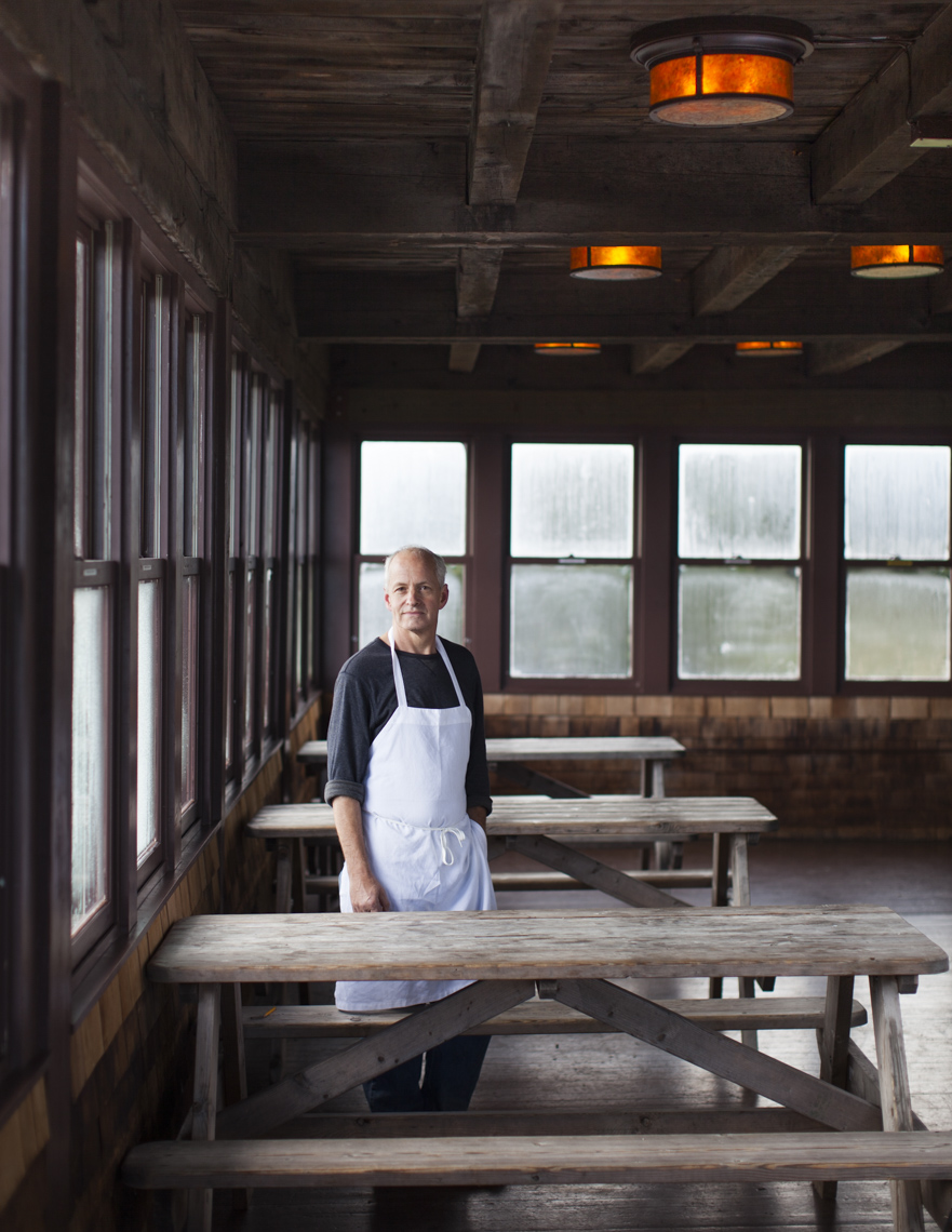 Portrait of chef at resort in Western Massachusetts