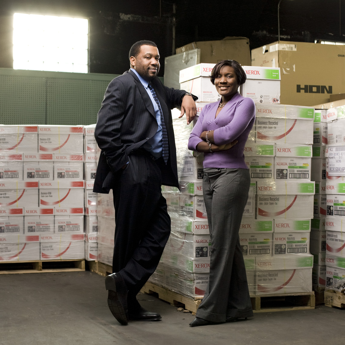 Portrait of male and female African American business owners in Philadelphia