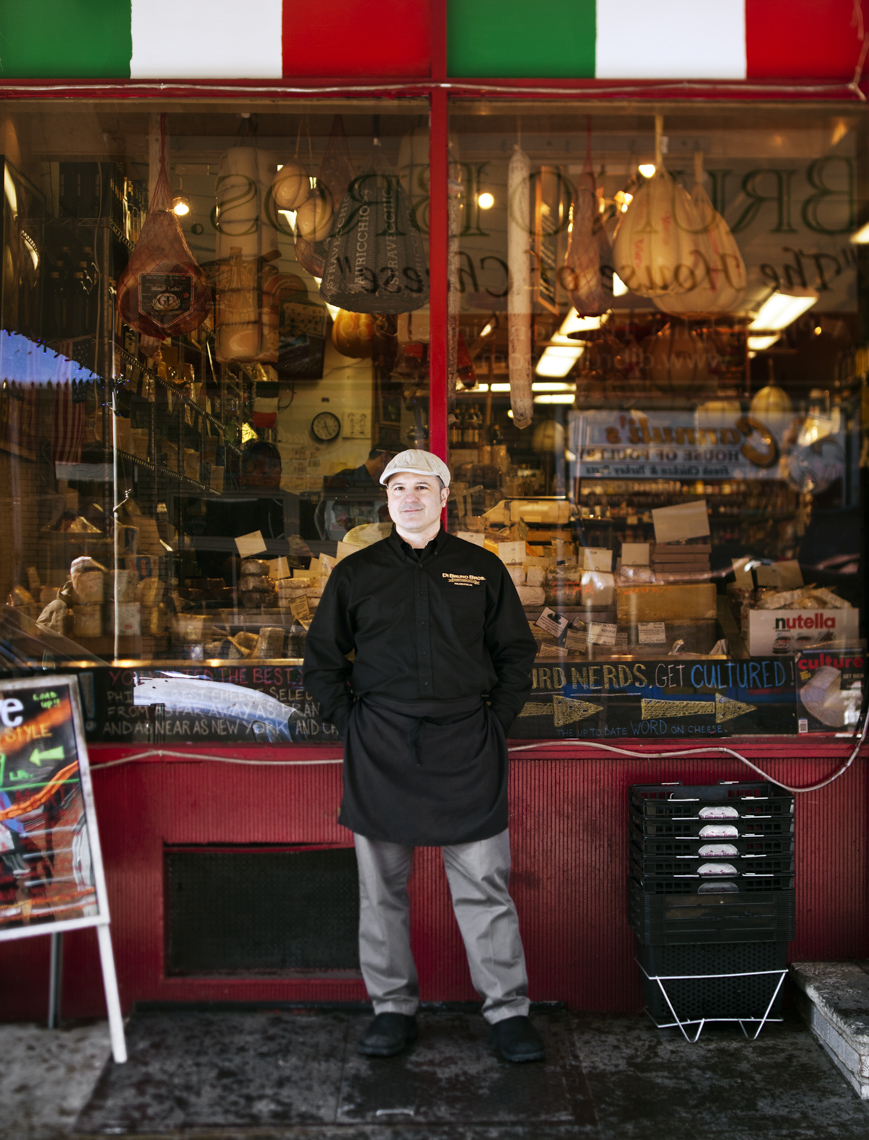 Portrait of Emilio Mignucci, the third generation owner of Di Bruno Bros. in Philadelphia