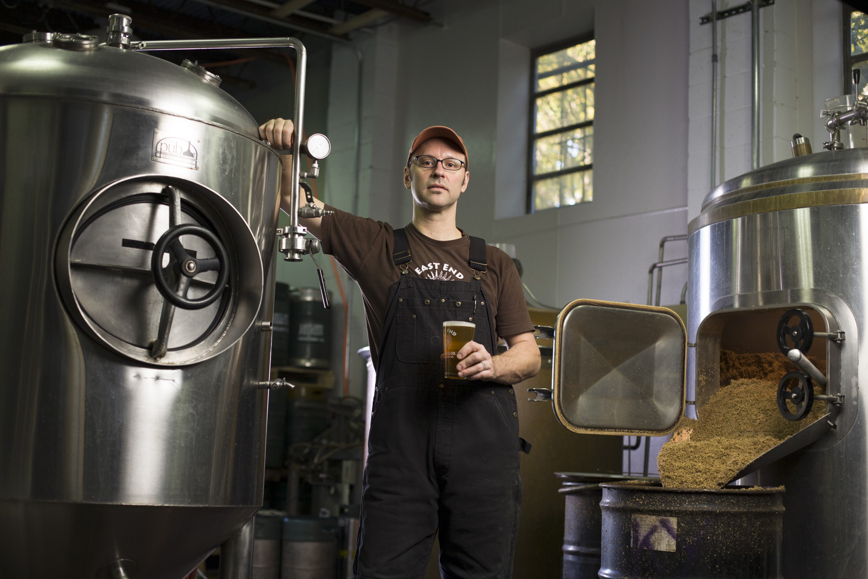 Portrait of East End Brewing Company owner Scott Smith in Pittsburgh, Pa.